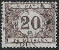 Belgium SG D325a 1925 Postage Due 20c good/fine used